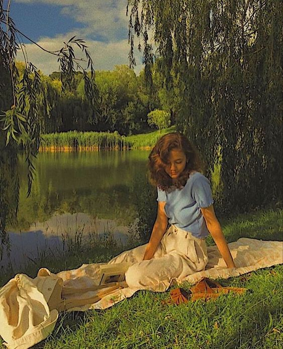 aesthetic, picnic, and vintage image