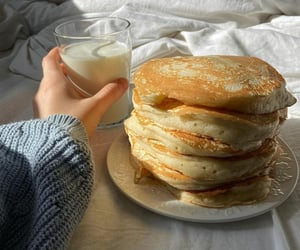 food, breakfast, and milk image