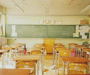 school, classroom, and japan image