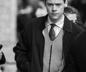 black and white, my policeman, and Harry Styles image