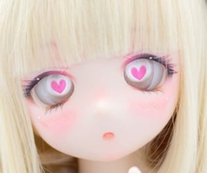 anime, ball jointed doll, and pink image