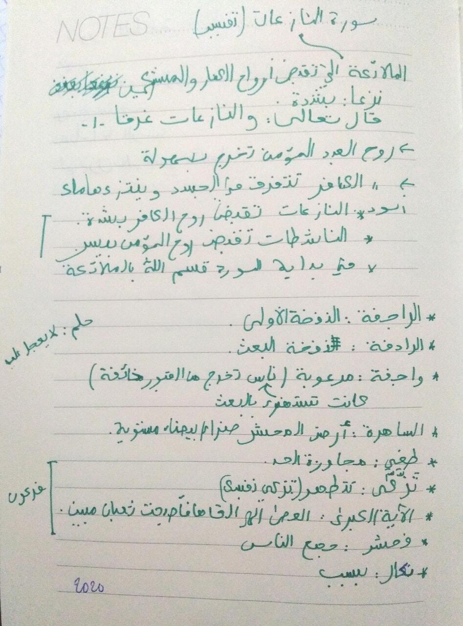 ذكرً, سورة, and سورة النازعات image