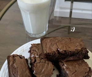 food, chocolate, and milk image