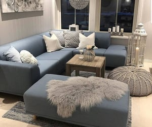 home, blue, and decoration image