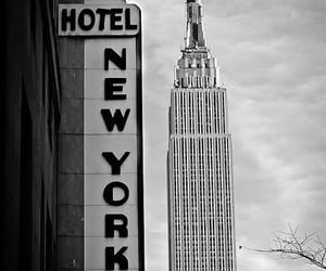b&w, hotel, and new yorker image