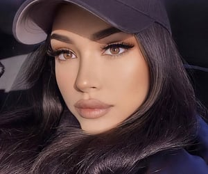brown eyes, lips, and makeup image