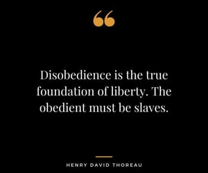 disobedience, freedom, and henry david thoreau image