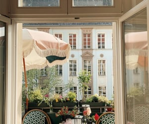 balcony, interior, and plants image
