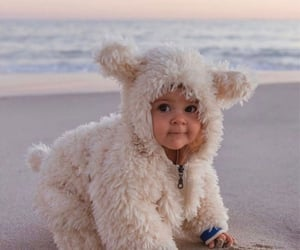 baby and beach image