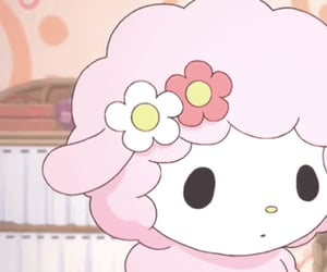 pink, sanrio, and sheep image