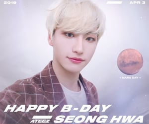birthday, park seonghwa, and ateez image