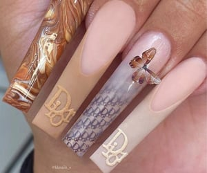 dior, aesthetic, and nails inspo image