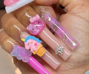 aesthetic, icons, and nails image