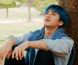 blue hair, gif, and pentagon image