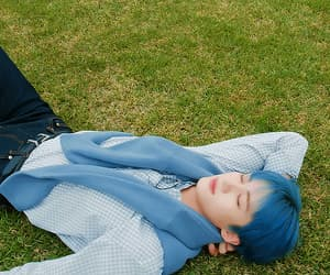 beautiful, boy, and blue hair image