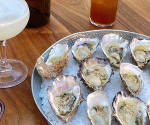 food, foodie, and oyster image