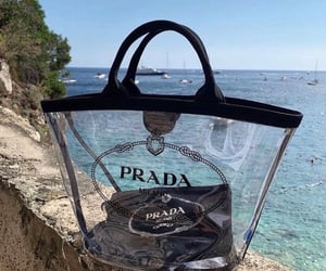 bag, Prada, and beach image