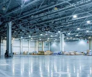 high bay led lights, led warehouse lighting, and ufo led high bay lights image