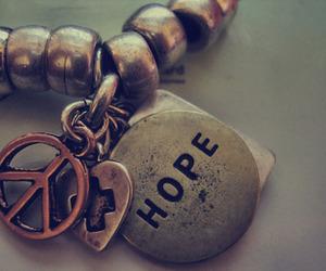 hope, peace, and bracelet image