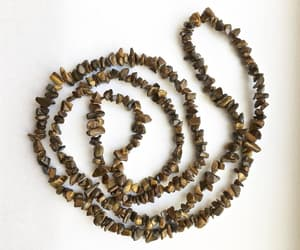 brown, artisan necklace, and tiger eye jewelry image