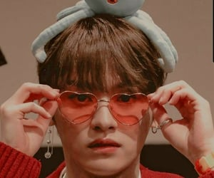 glasses, lee minho, and red image