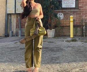summer, everyday look, and green crop top image
