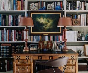 wfh, books, and eclectic image