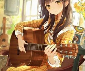 anime, brown hair, and girl image