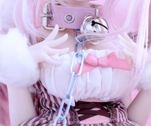 anime, collar, and doll image