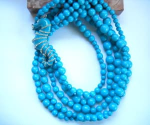 beaded necklace, tropical necklace, and vintage seahorse image