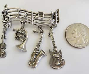etsy, music teacher, and sterling brooch image