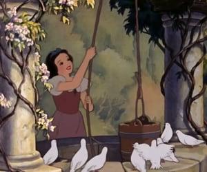 disney, fountain, and snow white image
