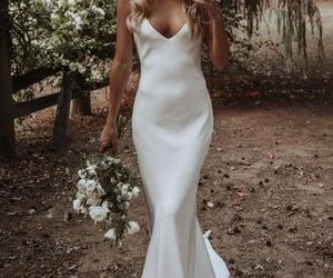 backless, boho, and wedding dress image
