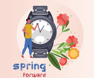 dst, spring forward, and daylight saving time image