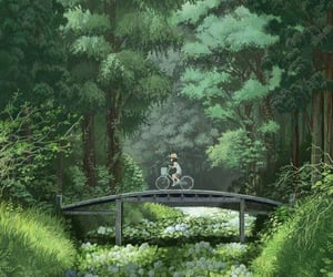 anime, forest, and art image