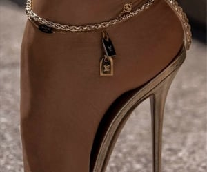 high heels and Louis Vuitton image