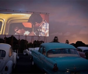 drive in, cars, and love image