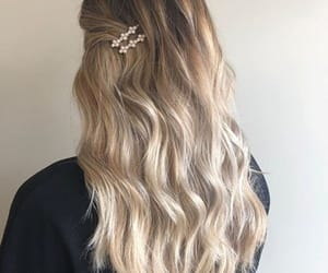 blonde, braid, and long hair image