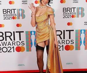 red carpet, brits awards, and dua lipa image