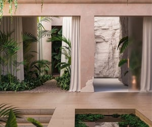architecture, home, and plants image