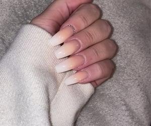 classy, long nails, and nail inspo image
