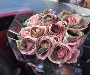 rose, money, and flowers image