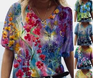fashion, floral top, and style image