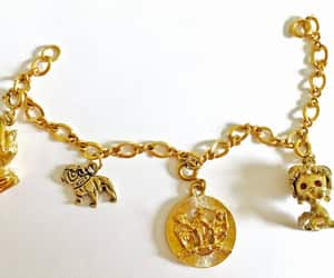 charm bracelet, etsy, and estate jewelry image