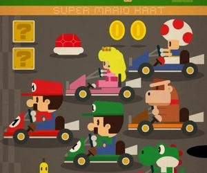 game, mario, and mario kart image