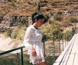 dress, nature, and sun image