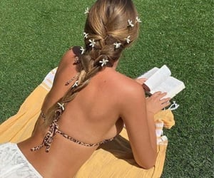 summer, book, and girl image