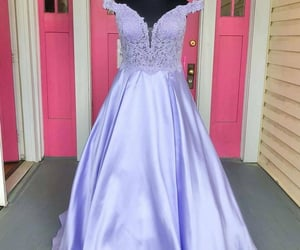 evening dress, prom dress, and fashion image