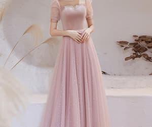 evening dress, prom dress, and pink prom dress image