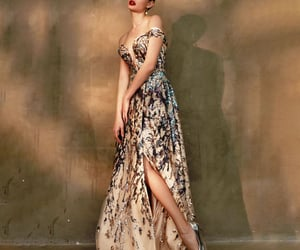 runway, dress, and prom gown image